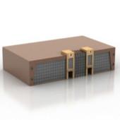 Brown Platform Building Free 3dmax Model