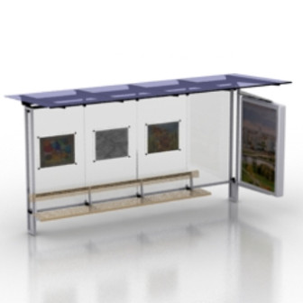 Free 3dmax Model Bus Stop