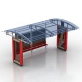 Public Pavilion Bus Stop Free 3dmax Model