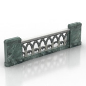 Stone Fence Free 3dmax Model