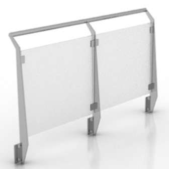 Outdoor Glass Fence Free 3dmax Model