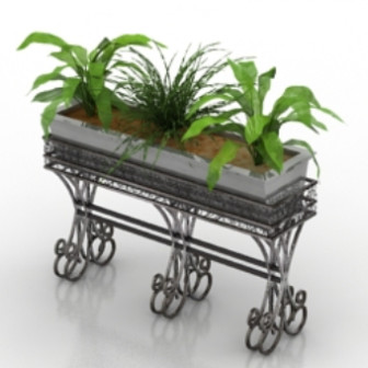 Home Potted Plant Decoration Free 3dmax Model