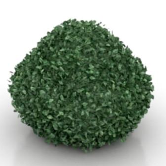 Green Bush Free 3dmax Model