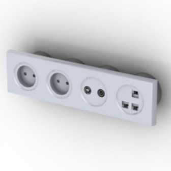 Household Socket Free 3dmax Model