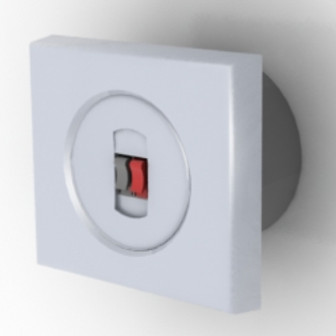 White Electrical Switch Free 3dmax Model