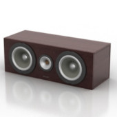 Small Stereo Speaker Free 3dmax Model