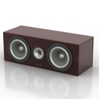 Small Stereo Speaker Free 3dmax Model
