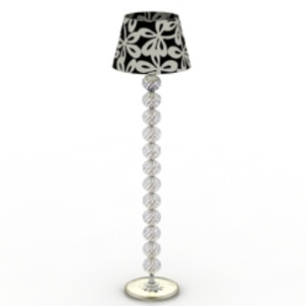 Black And White Crystal Floor Lamp Free 3dmax Model Textures