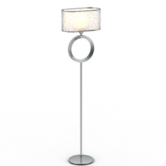 Shiny Floor Lamp Free 3dmax Model