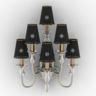 Luxury Style Hotel Wall Lamp Free 3dmax Model