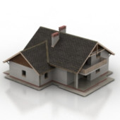 European Free 3dmax Model Of Old Era Cottages