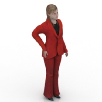 Red Woman Free 3dmax Model