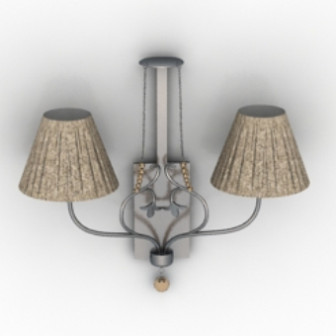 European Retro Wall Lamp Free 3dmax Model