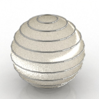 Shiny Round Fixture Free 3dmax Model