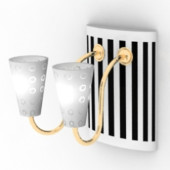 Black And White Wall Lamp Free 3dmax Model