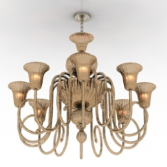 Vintage Brass Chandelier Free 3dmax Model