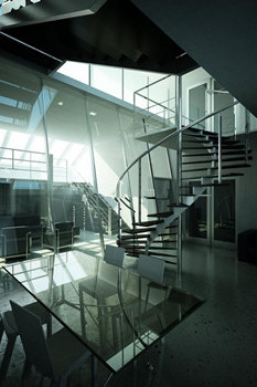 Modern Double Staircase