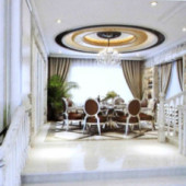 European-style Restaurant Open Large Space Thermocline