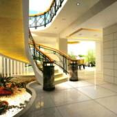 Modern Staircase Scene
