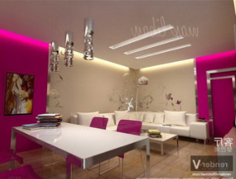 Colored Living Room Design Free 3dmax Model