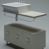Wash Sink Furniture Free 3dmax Model