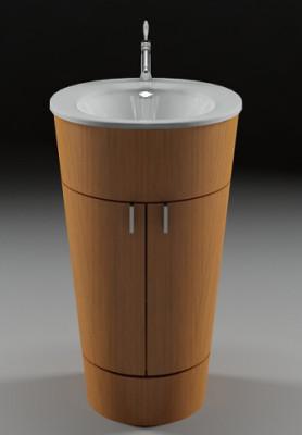 Circle Wash Sink Free 3dmax Model