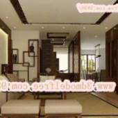 Minimalist Wooden Modern Living Room Scene