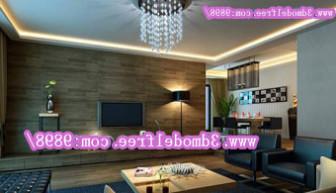 Dark Style Living Room Scene