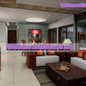 Chinese Modern Living Room Scene Free 3dmax Model