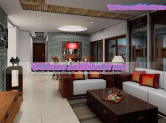 Chinese Modern Living Room Scene
