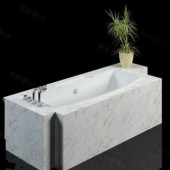 Luxurious Marble Stone Bathtub Free 3dmax Model