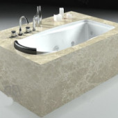 Luxurious Stone Bathtub Free 3dmax Model