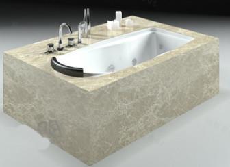 Luxurious Stone Bathtub Free 3dmax Model