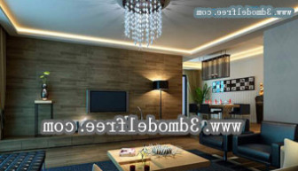 Dark Style Living Room 3dmax Model