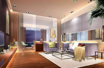 Modern Minimalist Glass Living Room Free 3dmax Scene