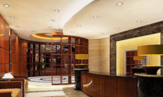 Office Curved Space Reception Interior Free 3dmax Model