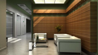 Wooden Reception Room