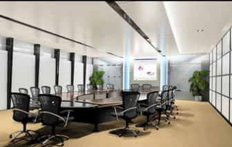Office Large Conference Room Free 3dmax Scene Model