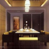 Luxury Kitchen Dining Room Free 3dmax Scene