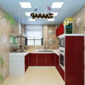 Modern Style Kitchen Free 3dmax Scene