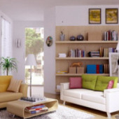 Modern Living Room Clean Design Free 3dMax Interior Scene