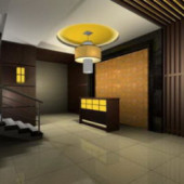Penthouse Living Room Interior 3dsMax Scene