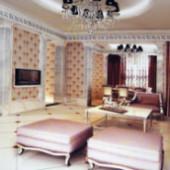 European Modern Living Room 3dsMax Scene