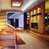 Warm And Stylish Living Room