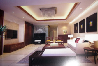 Simple Living Room Design 3dMax Scene