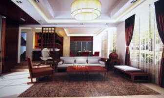 Chinese Wooden Living Room 3dMax Models