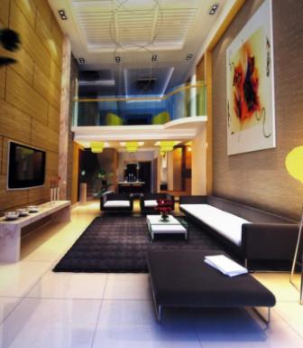 Modern Living Room 3d Scene