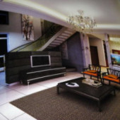 Living Room Duplex Interior Free 3dmax Model