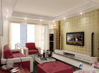 Villa Large Living Room 3dsMax Model Scene