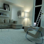 Indoor Minimalist Interior Space 3dMax Model Scene